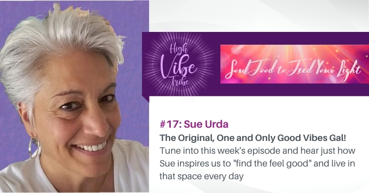 sue urda featured guest on the high vibe tribe podcast